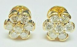 Black Friday 0.70ct Natural Diamond 14k Solid Yellowgold Stud Screw Back Earring
