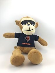 Official Nfl Licensed Chicago Bears Plush Rally Monkey With Sun Glasses Rare