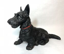 Large Antique Hubley Cast Iron Scottish Terrier Dog Doorstop 412 Scottie