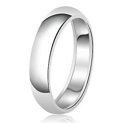 Sterling Silver 925 Couples Plain Comfort Fit Wedding Band Ring 6mm Free Engrave