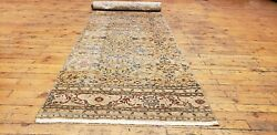 Beautiful 1930-1939and039s Antique Wool Pile 2and0393andtimes9and0395 Henna Natural Dye Bunyan Rug