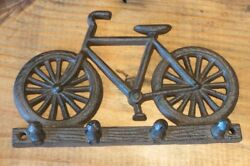 Vintage Style Cast Iron Bike Hook 7.75 Wide keys bike bicycle rustic