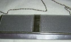 Silver evening bag with chain $10.00