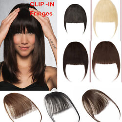 Us Side Bangs Clip On Neat/air Bang Fringes Clip In 100 Human Hair Extensions R