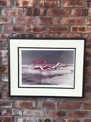 Signed Alexander Calder Photo. Braniff Airlines Flying Colors The United States