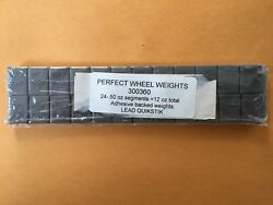 PERFECT ADHESIVE STICK ON LEAD WHEEL WEIGHTS 24 1 2 oz SEGMENTS 12 oz total