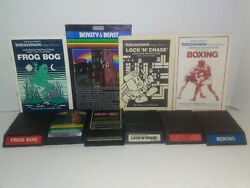 6 Intellivision Games Frog Bog, Donkey Kong, Beauty And The Beast , Adandd And More