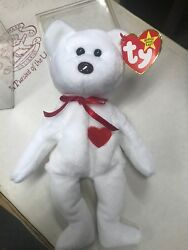 Extremely Rare 1st Valentino 1994 Ty Inc Beanie Baby Style 4058 Poem Tag Pvc