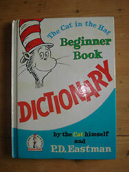The Cat In The Hat Beginner Book Dictionary 1964 First Edition BY PD EASTMAN