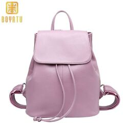 Genuine Leather Backpack Women Fashion School Backpack for Girls Travel