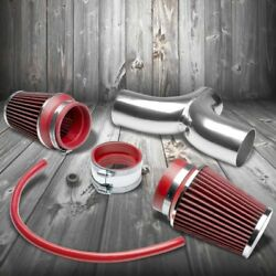 Dual Shortram Air Intake Pipe+ Red Filter For Chevy 97-04 Corvette C5 Ls1/ls6