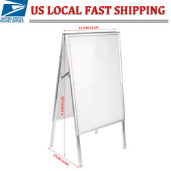 Double sided Floor Standing Poster Display Snap Frame Menu Sign Holder Stand