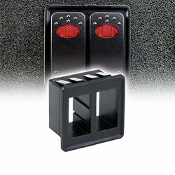 LED Store Rocker Switch Standard Heavy Duty Design Automotive 2 Switchs Panel