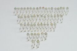 Wholesale 51pc 925 Solid Sterling Silver Ethiopion Opal Ring Lot J620