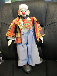 Antique Porcelain Clown Doll From Germany German Large Rare