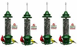 4 Pack Brome Squirrel Buster Plus Bird Feeder W/ Cardinal Perch Ring 1024 -