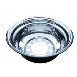 24 12 O.d. Stainless Steel Rear Wheel Cover - 2 Vent Hole, Stud Piloted