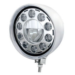 Stainless Steel Motorcycle Style Rebel Led Headlight Without Visor