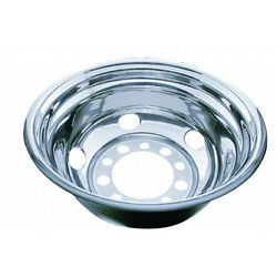 24 12 O.d. Stainless Steel Rear Wheel Cover - 5 Vent Hole, Stud Piloted