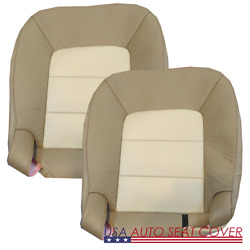 03- 06 Ford Expedition 2 Ton Driver Passenger Bottom Leather Seat Cover Tan