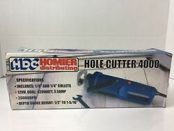 Homier Hdc Hole Cutter 4000 Construction Woodworking Power Tool Rare Collet