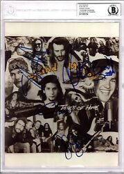 BLIND MELON Shannon Hoon +4 Signed Autographed 8x10 Photo BECKETT BAS Slabbed