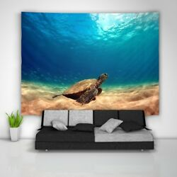 Sea Turtle Tapestry Art Wall Hanging Sofa Table Bed Cover Home Decor