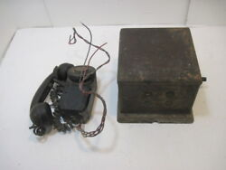 Old Vintage Monophone Crank Phone Railroad R/r Caboose Telephone Automatic Elect