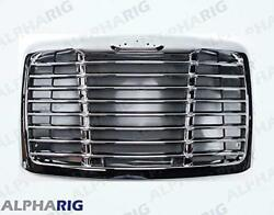 Freightliner Cascadia Grill No Bugscreen, W/emblem Hole, Chrome And Black 2008 And U