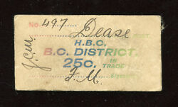 Hudsonand039s Bay Company Card Token - H.b.c. Dease Post - White