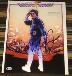 Michael J. Fox Lloyd Signed Autograph Back To The Future 11x14 Poster Photo Bas