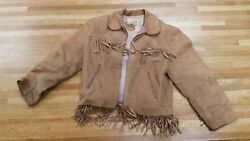 1950's Vintage Child's Roy Rogers Leather Jacket With Original Box Vg Condition