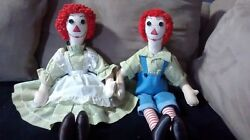 A Lucille Gordon Doll Raggedy Ann And Andy 1930s-1940s Vintage Collector Item