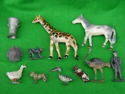 Lead / Metal Farm And Zoo Animals And Items Assortment