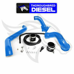 HSP Max Flow Bridge Cold Side Tube Turbo Inlet 11-16 Duramax LML - Gloss Blue