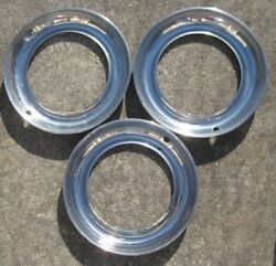 Group Of 3 Vintage Trim Rings Stainless Steel For 1940's 1950's Dodge Plymouth