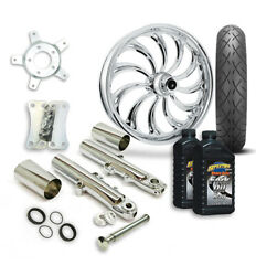Rc 21 Calypso Wheel Tire And Complete Chrome Front End Package Harley 14-19 Flh