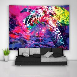 Painting Turtle Tapestry Art Wall Hanging Sofa Table Bed Cover Home Decor