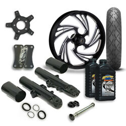 Rc 21 Crisis Wheel Tire And Complete Eclipse Front End Package Harley 14-19 Flh