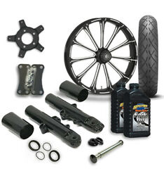 Rc 21 Exile Wheel Tire And Complete Eclipse Front End Package Harley 14-19 Flh