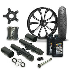 Rc 21 Maverick Wheel Tire And Complete Eclipse Front End Package Harley 14-19 Flh
