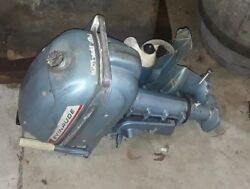 Vtg. 3 Hp Evinrude Folding Outboard Motor W/case - Running - Clean