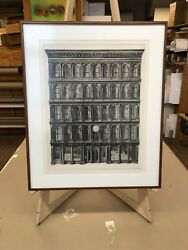 Richard Haas Haughwout Building Ii 1971 Drypoint On Paper Signed Numbered