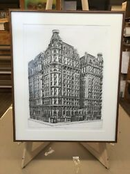 Richard Haas The Ansonia 1972 Drypoint On Paper Signed Numbered 18/60