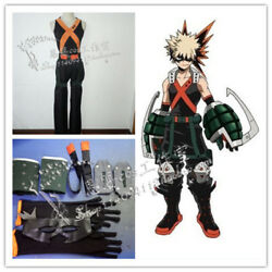 My Hero Boku No Hero Academia Katsuki Bakugou Cosplay Costume Whole Set Prop Hot