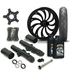Rc 21 Calypso Wheel Tire And Complete Black Front End Package Harley 14-19 Flh