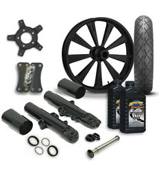 Rc 21 Raider Wheel Tire And Complete Black Front End Package Harley 14-19 Flh