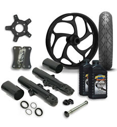 Rc 21 Torsion Wheel Tire And Complete Black Front End Package Harley 14-19 Flh