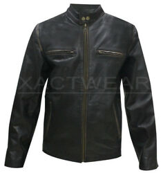 New Daddyand039s Home Movie Outfit Mark Wahlberg Biker Distressed Real Leather Jacket