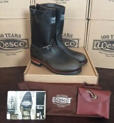 WESCO 1939 Engineer Boots Charcoal Hand Nailed 100TH Anniversary   Sz 9 D